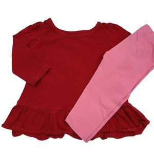 🍒3/$20🍒 Pink & Red Outfit with Glitter 12-18m